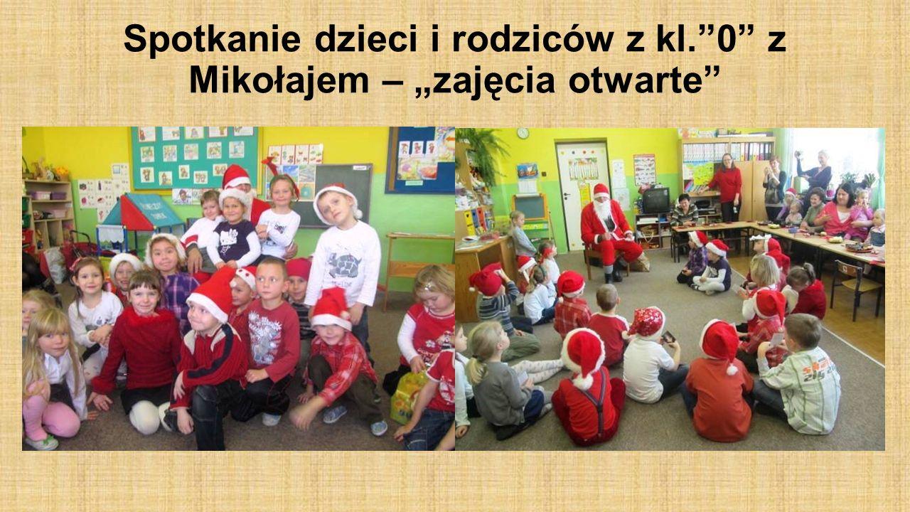 Spotkanie dzieci i rodziców z kl.0 z Mikołajem – zajęcia otwarte