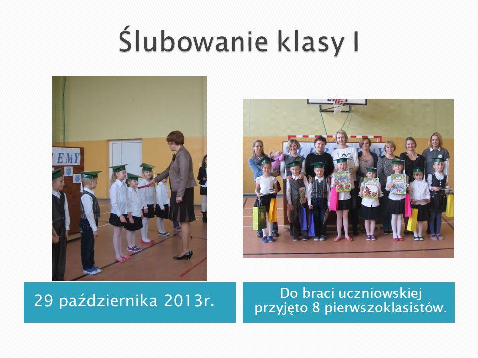 29 października 2013r. Do braci uczniowskiej przyjęto 8 pierwszoklasistów.