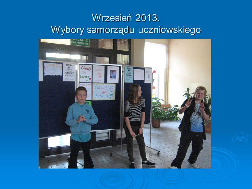 Październik 2013. Ślubowanie klas pierwszych szkoły podstawowej