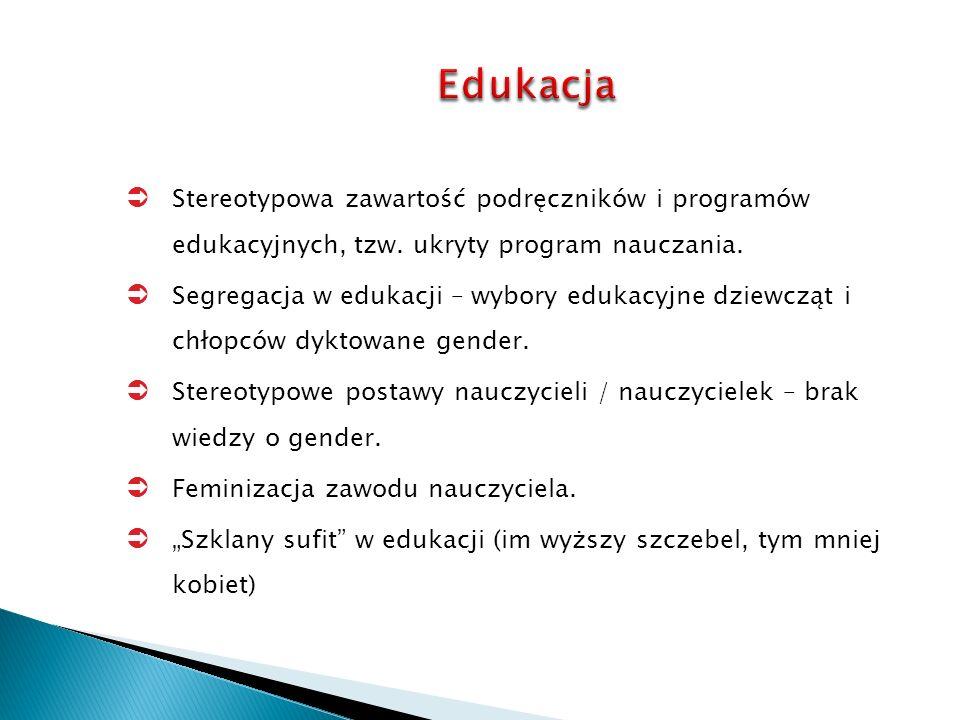 Stereotypowa zawartość podręczników i programów edukacyjnych, tzw.