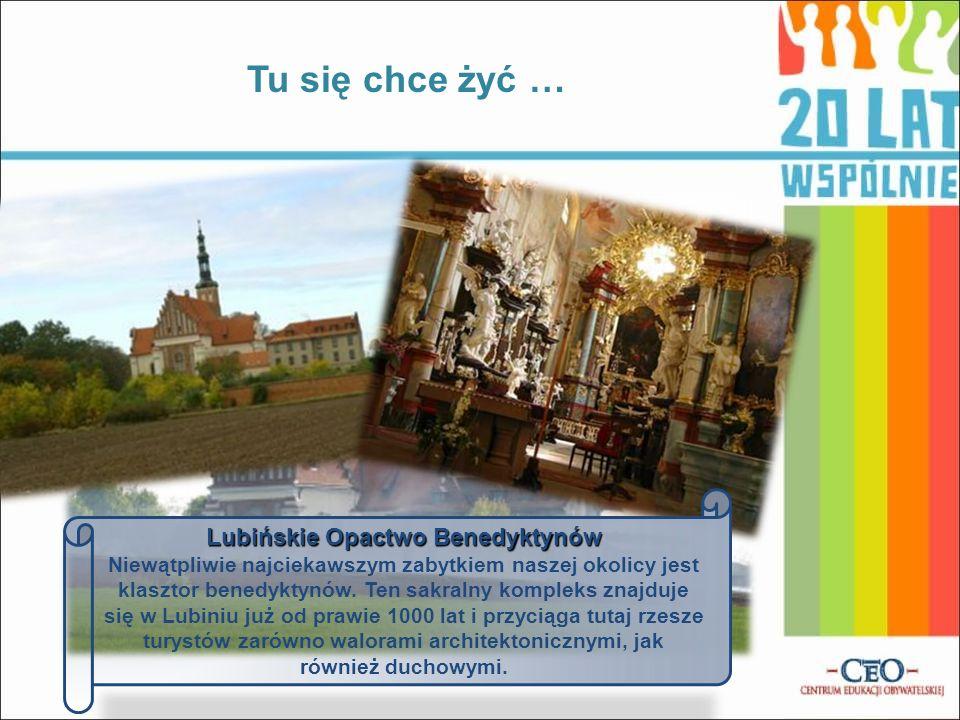 Lubińskie Opactwo Benedyktynów Niewątpliwie najciekawszym zabytkiem naszej okolicy jest klasztor benedyktynów. Ten sakralny kompleks znajduje się w Lu