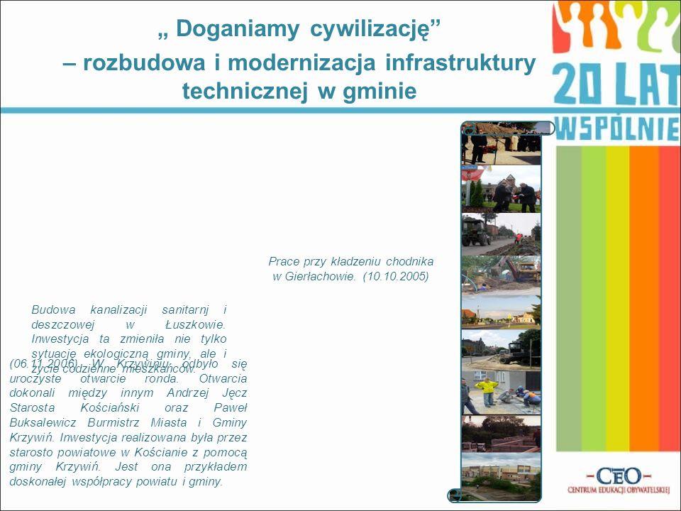 (06.11.2006) W Krzywiniu odbyło się uroczyste otwarcie ronda. Otwarcia dokonali między innym Andrzej Jęcz Starosta Kościański oraz Paweł Buksalewicz B