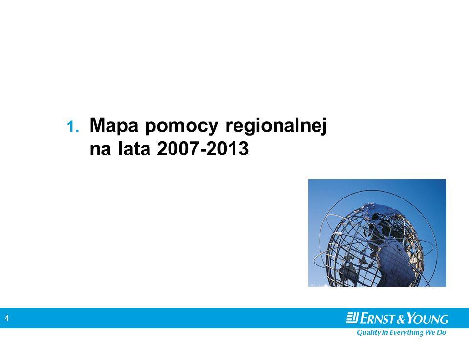 5 Mapa pomocy regionalnej w latach 2004-2006 LokalizacjaLimity pomocy Warszawa Poznań 30% Kraków Wrocław Gdańsk Gdynia Sopot 40% Pozostałe50% Legenda: maksymalna intensywność pomocy na poziomie 50% maksymalna intensywność pomocy na poziomie 40% maksymalna intensywność pomocy na poziomie 30% Warszawa Poznań Kraków Wrocław Gdynia Sopot Gdańsk
