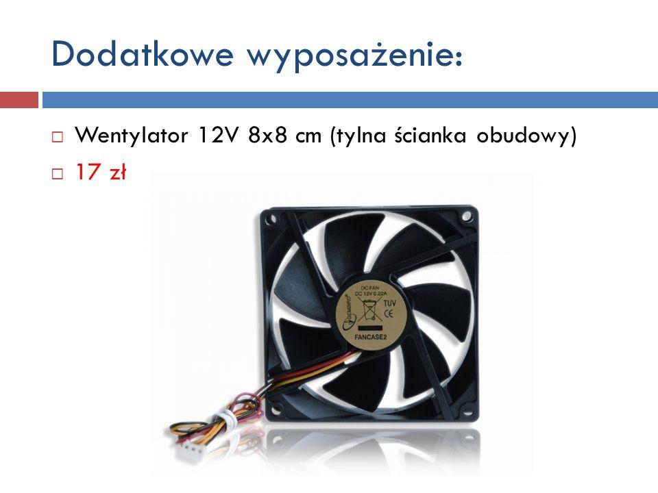 Dodatkowe wyposażenie c.d. Chłodzenie procesora radiator NINJA PLUS + wentylator 12cm 150 zł
