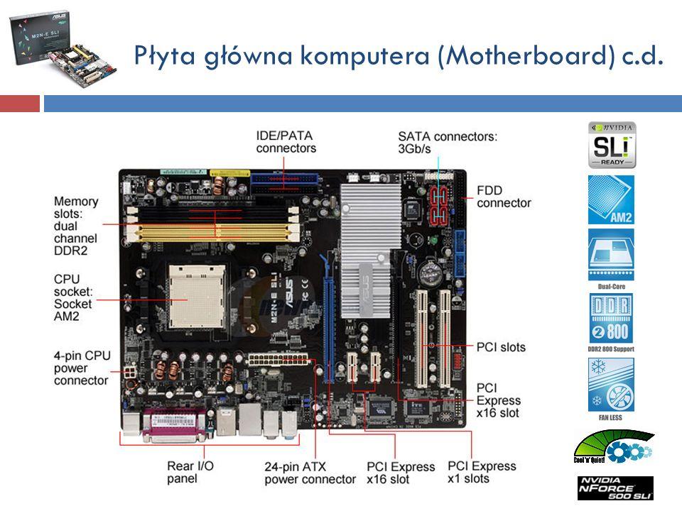 Płyta główna komputera (Motherboard) c.d.