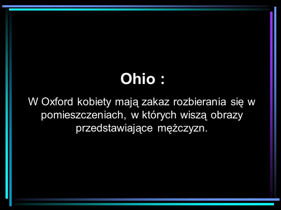 Ohio : W Oxford kobiety mają zakaz rozbierania się w pomieszczeniach, w których wiszą obrazy przedstawiające mężczyzn.