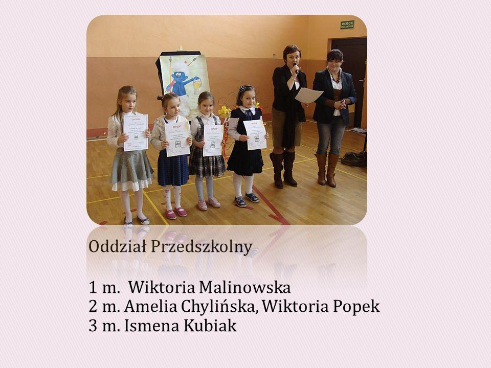 Oddział Przedszkolny 1 m.Wiktoria Malinowska 2 m.