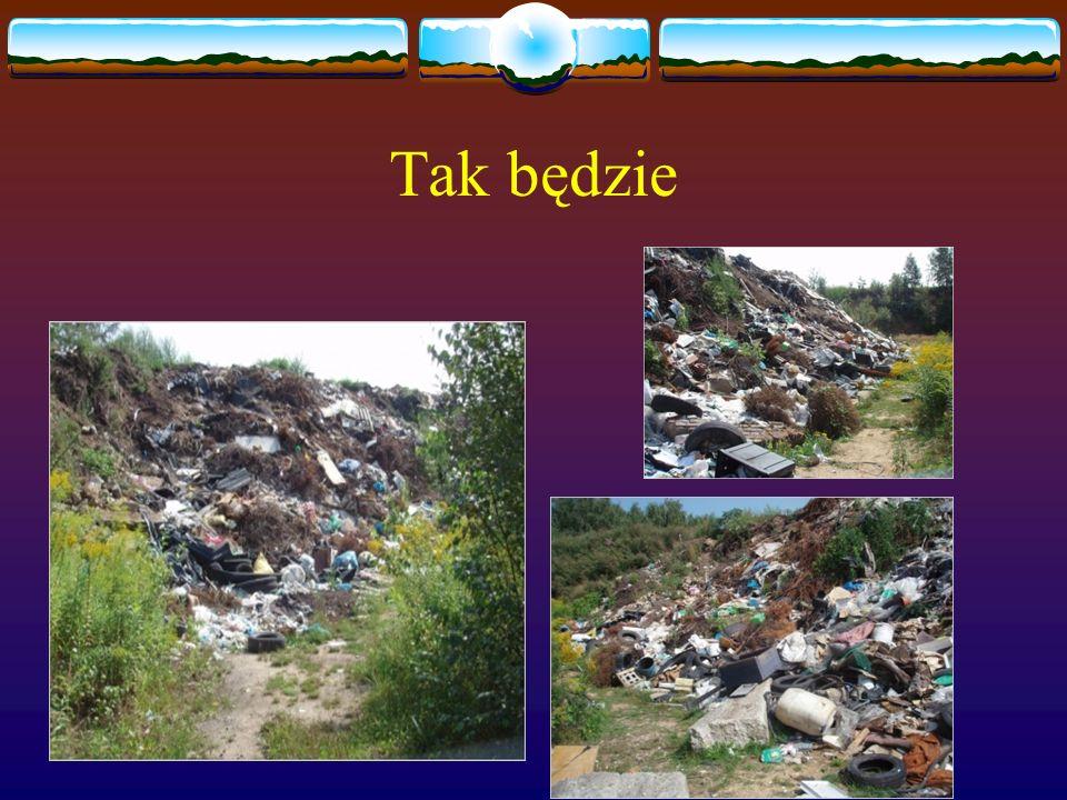 Tak będzie wyglądać świat jeśli nie będziemy o niego dbać Wszędzie gdzie się tylko spojrzy będzie leżeć mnóstwo odpadów Lasy będą składowiskiem śmieci Ludzie będą wyrzucać śmieci gdzie się tylko da Nasz świat się zmieni w jedno wielkie śmietnisko a przecież tego nie chcemy