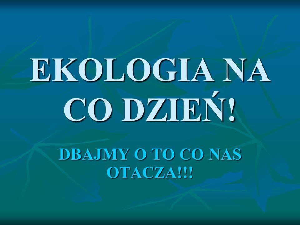 EKOLOGIA NA CO DZIEŃ! DBAJMY O TO CO NAS OTACZA!!!