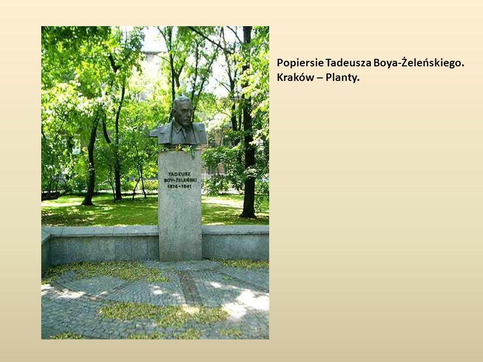 Popiersie Tadeusza Boya-Żeleńskiego. Kraków – Planty.