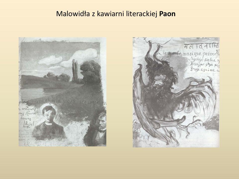 Malowidła z kawiarni literackiej Paon