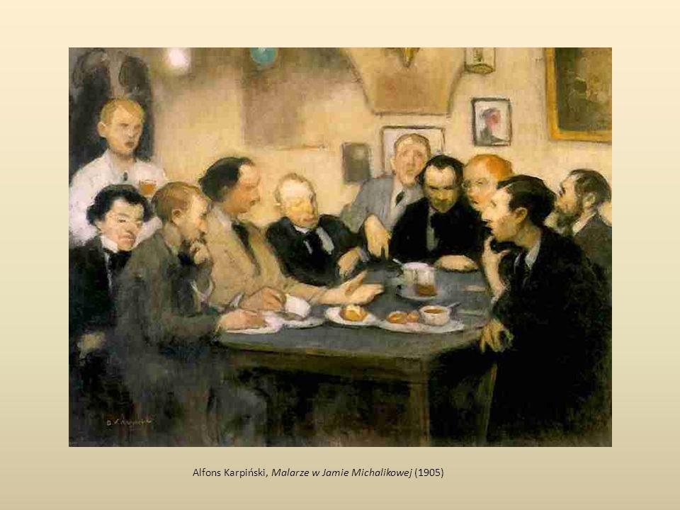 Alfons Karpiński, Malarze w Jamie Michalikowej (1905)