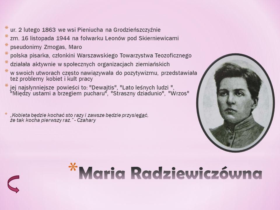 * ur.2 lutego 1863 we wsi Pieniucha na Grodzieńszczyźnie * zm.