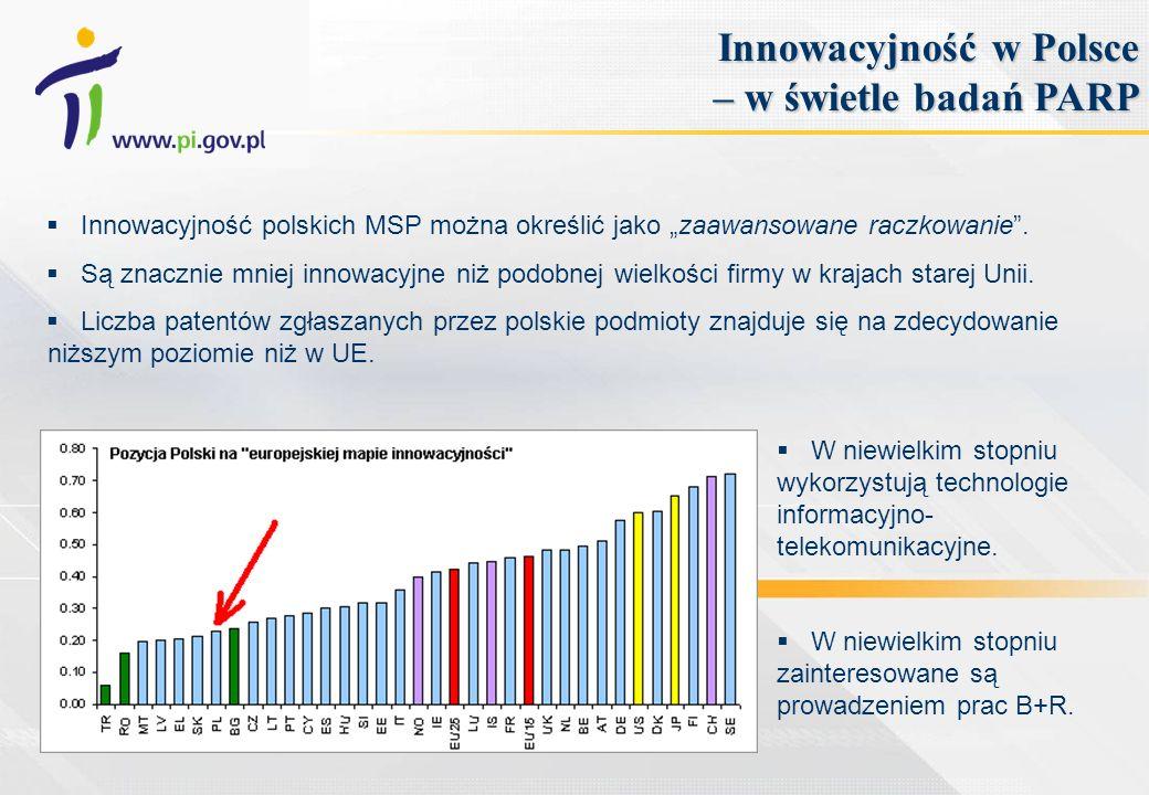 Innowacyjność polskich MSP można określić jako zaawansowane raczkowanie. Są znacznie mniej innowacyjne niż podobnej wielkości firmy w krajach starej U