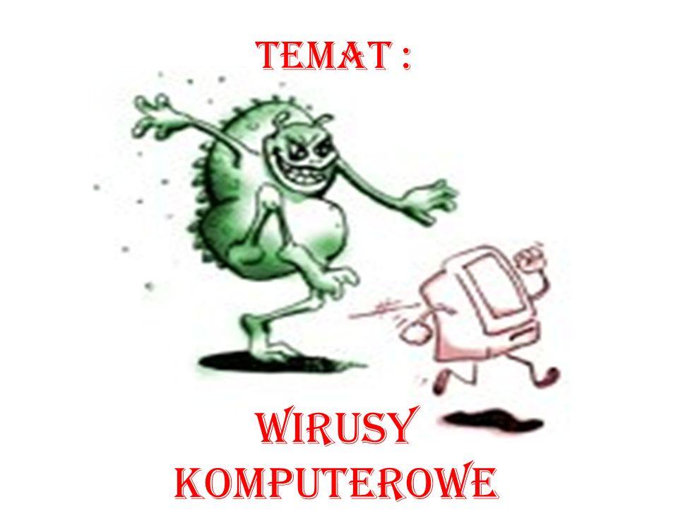 Wirusy komputerowe Temat :