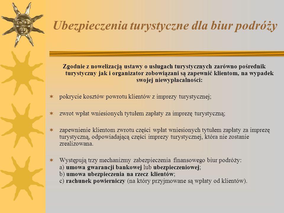 Przykłady podmiotów posiadających ubezpieczenia turystyczne dla biur podróży AXA Towarzystwo Ubezpieczeń i Reasekuracji S.A.