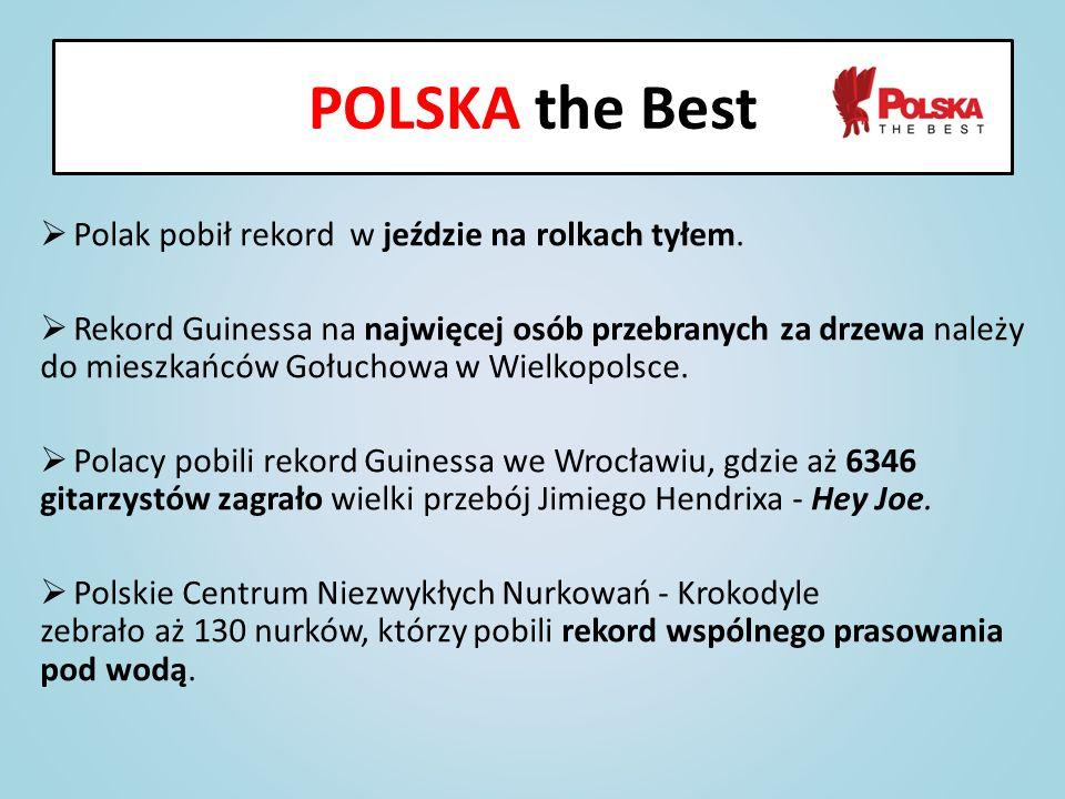 Polak pobił rekord w jeździe na rolkach tyłem. Rekord Guinessa na najwięcej osób przebranych za drzewa należy do mieszkańców Gołuchowa w Wielkopolsce.
