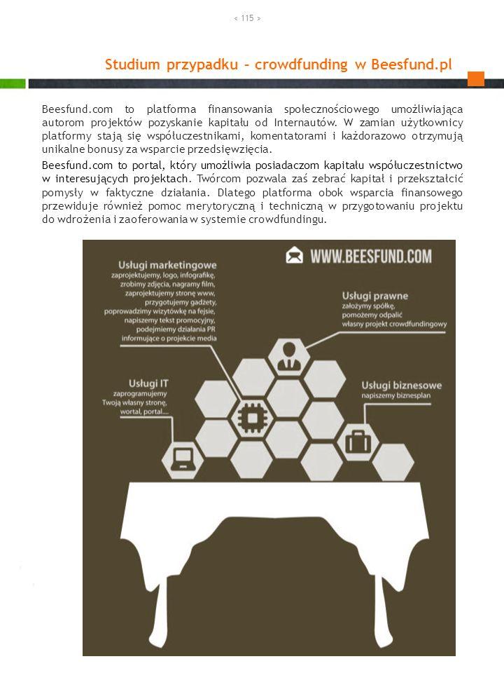 Studium przypadku – crowdfunding w Beesfund.pl. Beesfund.com to platforma finansowania społecznościowego umożliwiająca autorom projektów pozyskanie ka