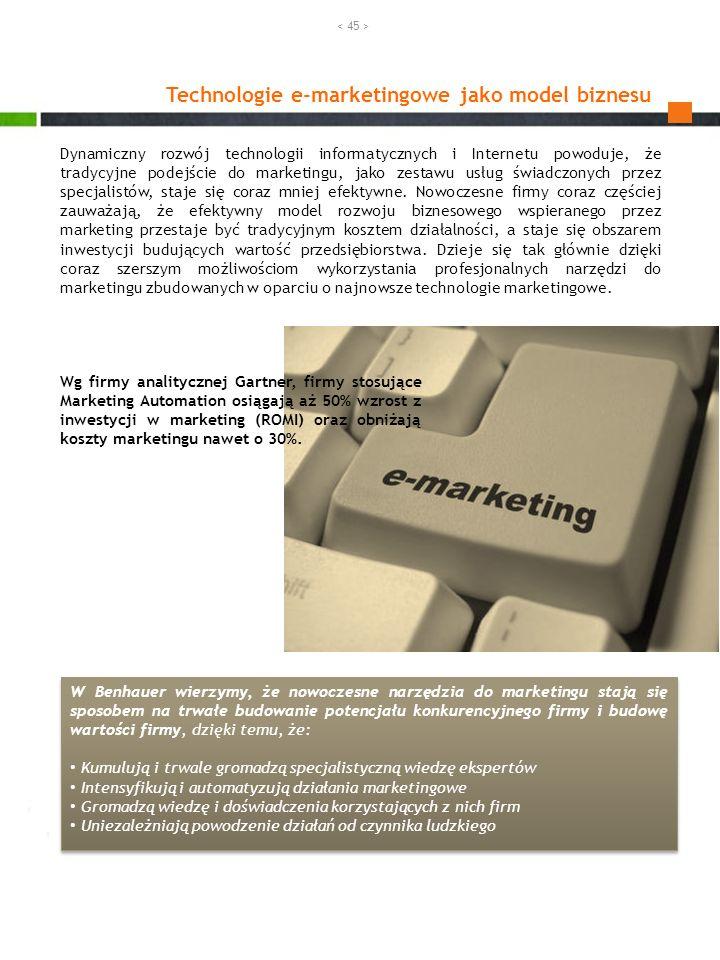 Technologie e-marketingowe jako model biznesu Dynamiczny rozwój technologii informatycznych i Internetu powoduje, że tradycyjne podejście do marketing