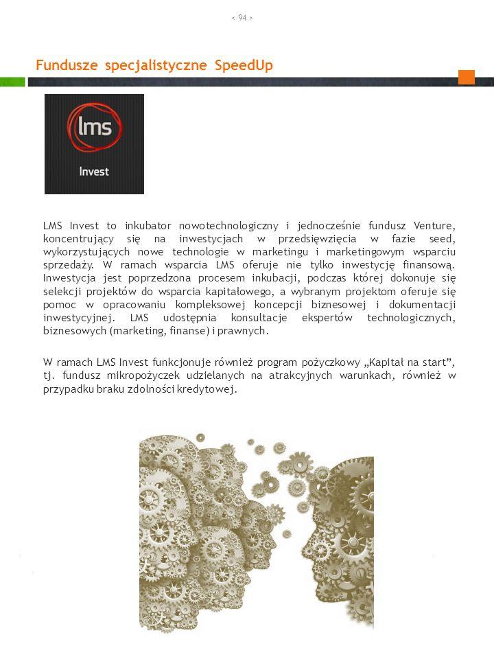 LMS Invest to inkubator nowotechnologiczny i jednocześnie fundusz Venture, koncentrujący się na inwestycjach w przedsięwzięcia w fazie seed, wykorzyst