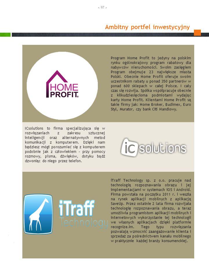Ambitny portfel inwestycyjny Program Home Profit to jedyny na polskim rynku ogólnokrajowy program rabatowy dla nabywców nieruchomości. Swoim zasięgiem