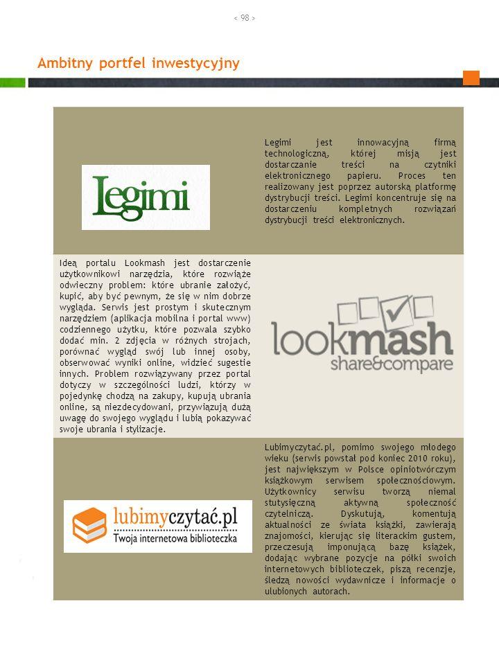 Ambitny portfel inwestycyjny Legimi jest innowacyjną firmą technologiczną, której misją jest dostarczanie treści na czytniki elektronicznego papieru.