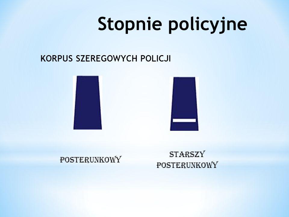 Stopnie policyjne KORPUS SZEREGOWYCH POLICJI POSTERUNKOWY STARSZY POSTERUNKOWY