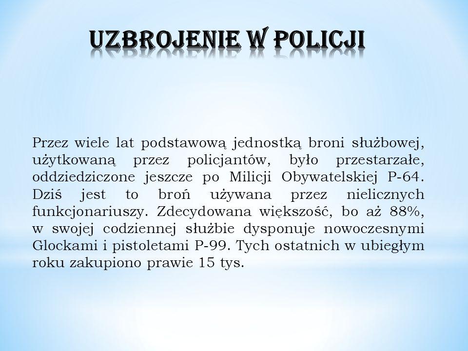 Przez wiele lat podstawową jednostką broni służbowej, użytkowaną przez policjantów, było przestarzałe, oddziedziczone jeszcze po Milicji Obywatelskiej