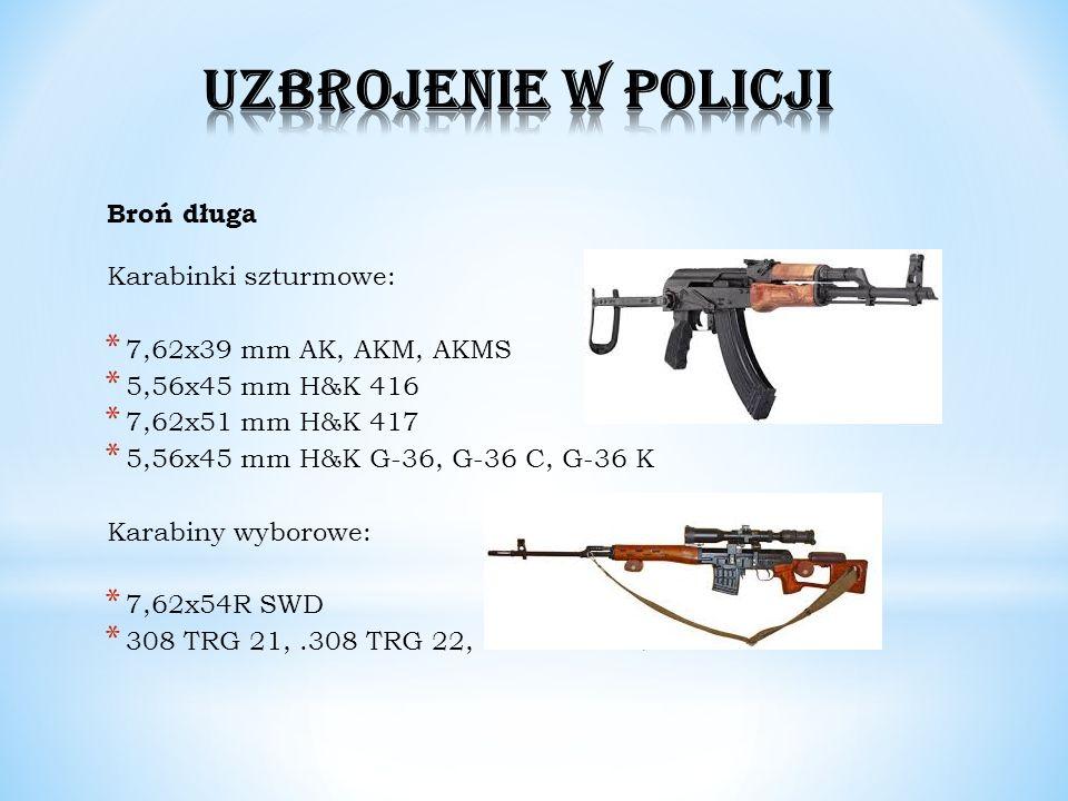Broń długa Karabinki szturmowe: * 7,62x39 mm AK, AKM, AKMS * 5,56x45 mm H&K 416 * 7,62x51 mm H&K 417 * 5,56x45 mm H&K G-36, G-36 C, G-36 K Karabiny wy