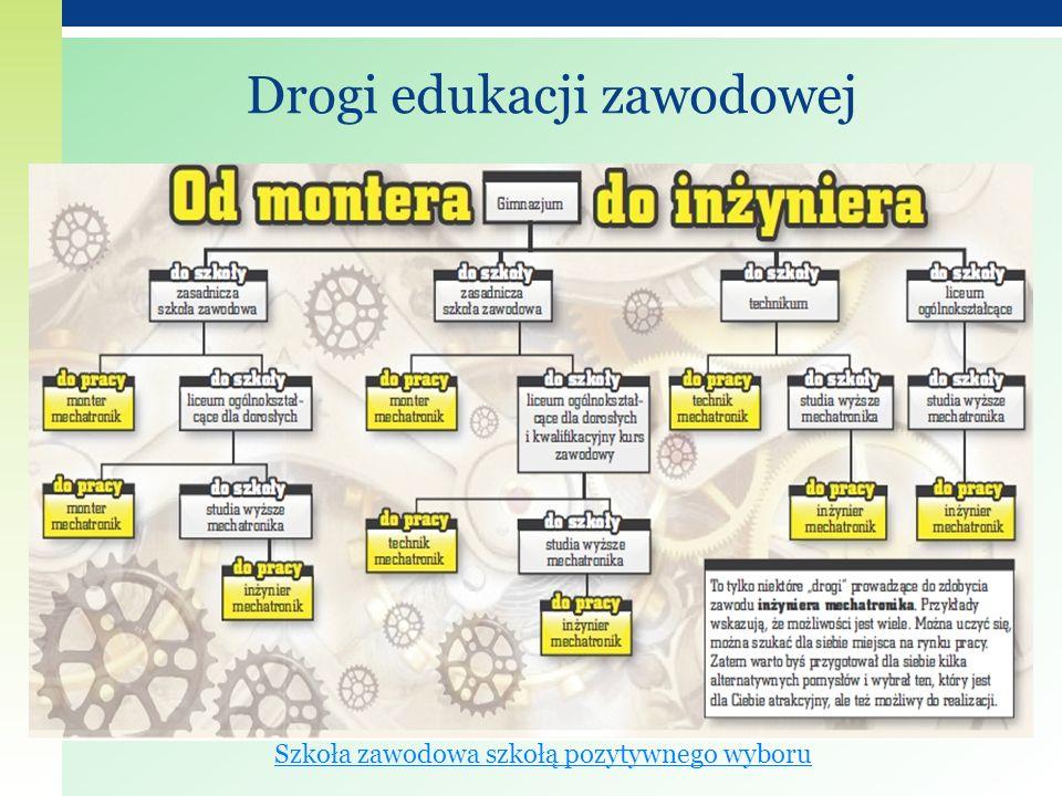 Drogi edukacji zawodowej Szkoła zawodowa szkołą pozytywnego wyboru