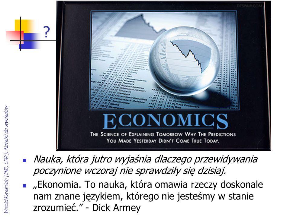 ? Nauka, która jutro wyjaśnia dlaczego przewidywania poczynione wczoraj nie sprawdziły się dzisiaj. Ekonomia. To nauka, która omawia rzeczy doskonale