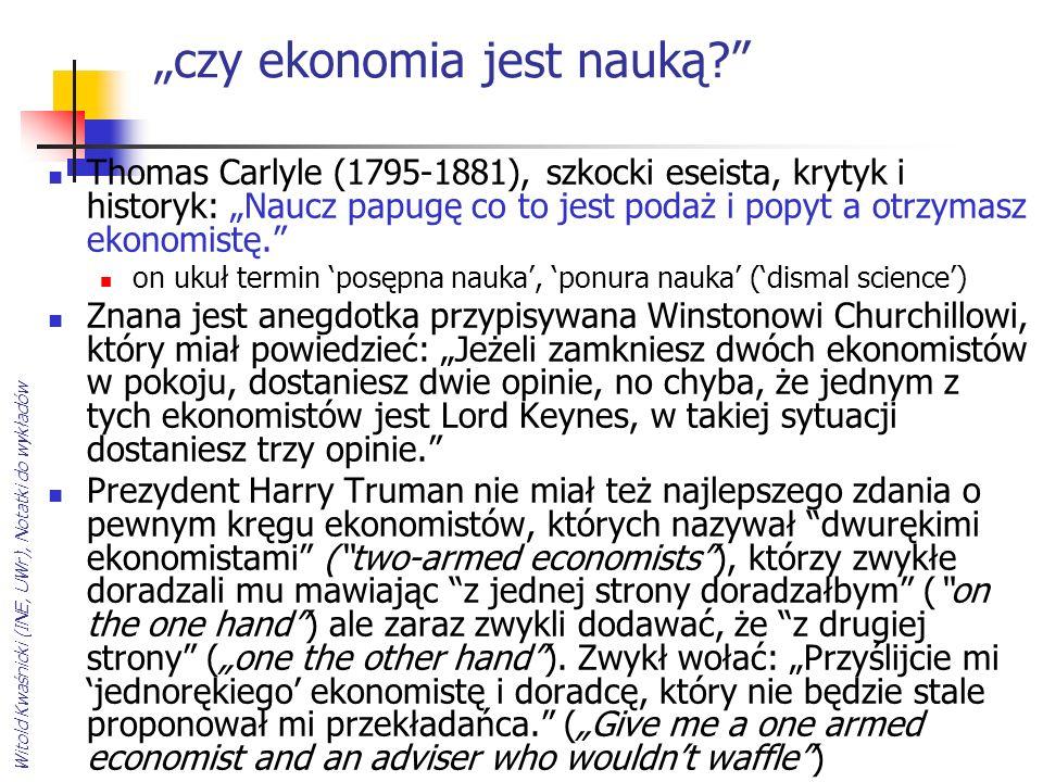 Witold Kwaśnicki (INE, UWr), Notatki do wykładów czy ekonomia jest nauką? Thomas Carlyle (1795-1881), szkocki eseista, krytyk i historyk: Naucz papugę