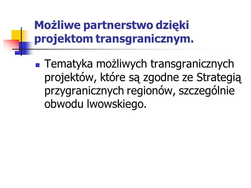 Możliwe partnerstwo dzięki projektom transgranicznym.