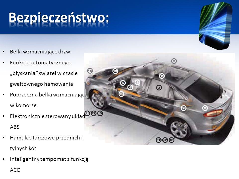System automatycznej zmiany świateł drogowych na mijania- przełącza reflektory w momencie gdy wykryje zbliżające się pojazdy System monitorowania koncentracji kierowcy- wykorzystując kamerę monitorującą drogę ocenia poziom koncentracji kierowcy.