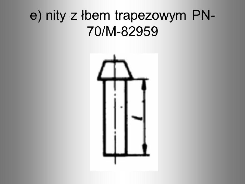 d) nity z łbem grzybkowym PN- 70/M-82958