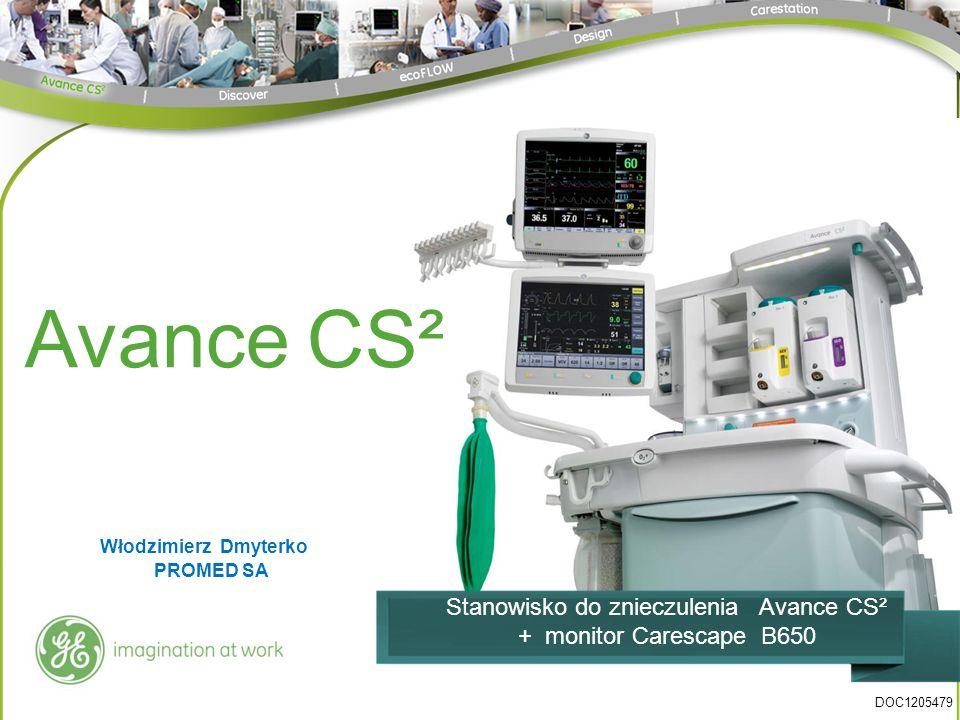 Avance CS² Stanowisko do znieczulenia Avance CS² + monitor Carescape B650 DOC1205479 Włodzimierz Dmyterko PROMED SA