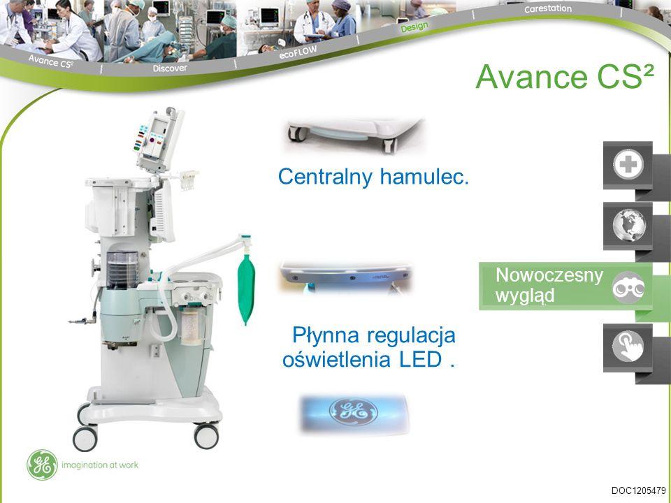 Nowoczesny wygląd Avance CS² Centralny hamulec. DOC1205479 Płynna regulacja oświetlenia LED.