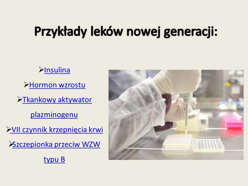 Jest pierwszym z leków, który powstał dzięki zastosowania technikami inżynierii genetycznej.