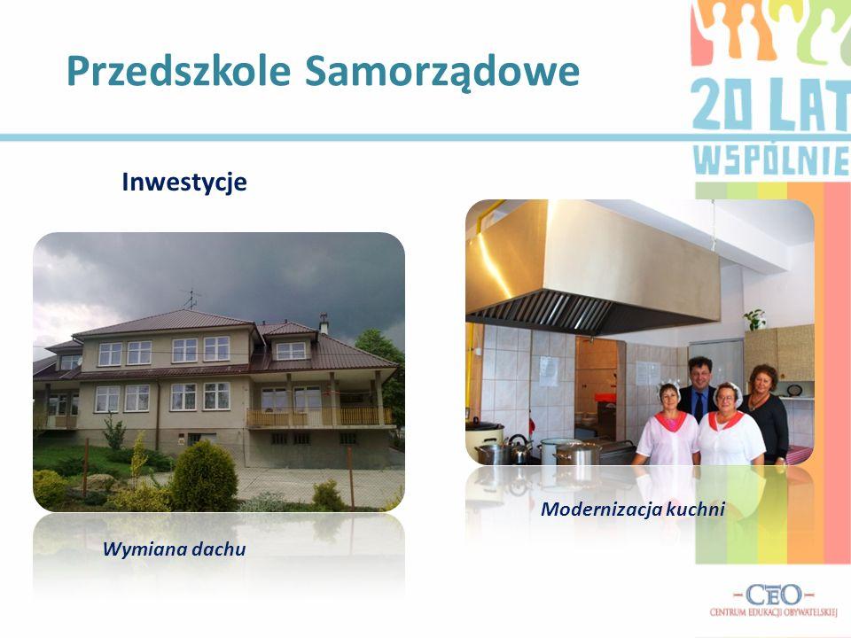 Przedszkole Samorządowe Modernizacja kuchni Inwestycje Wymiana dachu