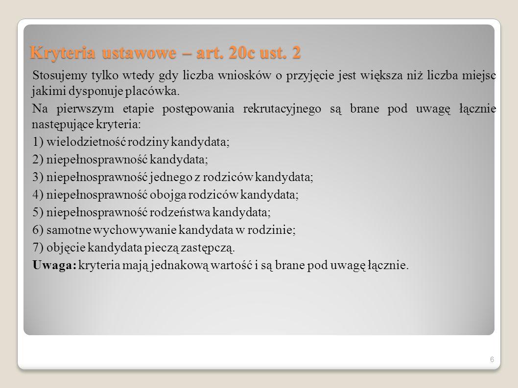 Kryteria społeczne w rekrutacji do przedszkola – art.