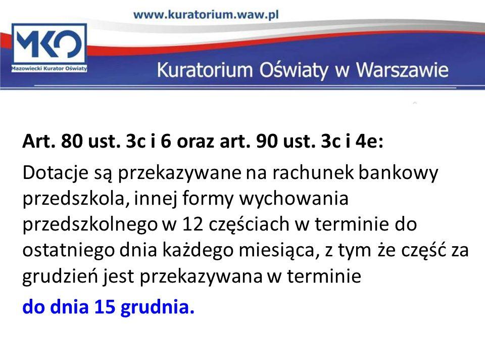 Art.80 ust. 3c i 6 oraz art. 90 ust.