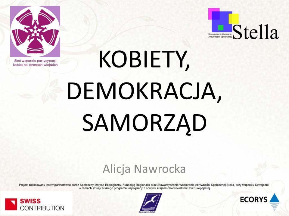 Demokracja – CO TO JEST Demokracja – A SAMORZĄD LOKALNY Demokracja - SAMORZĄD I KOBIETY