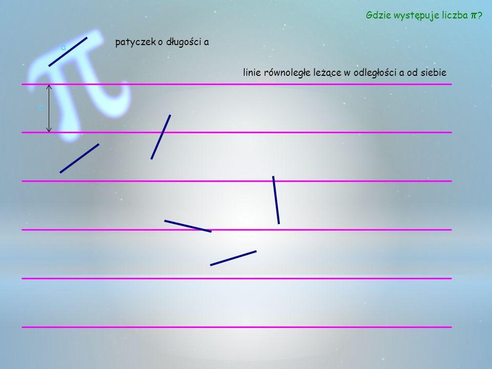 a a patyczek o długości a linie równoległe leżące w odległości a od siebie