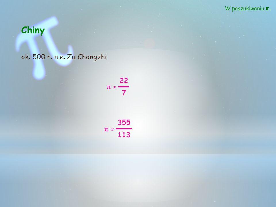 π π π π π π π π π π π π π π π Uczeni szukając kontaktu z cywilizacjami pozaziemskimi, wysłali w kosmos drogą radiową informację o wartości liczby π.