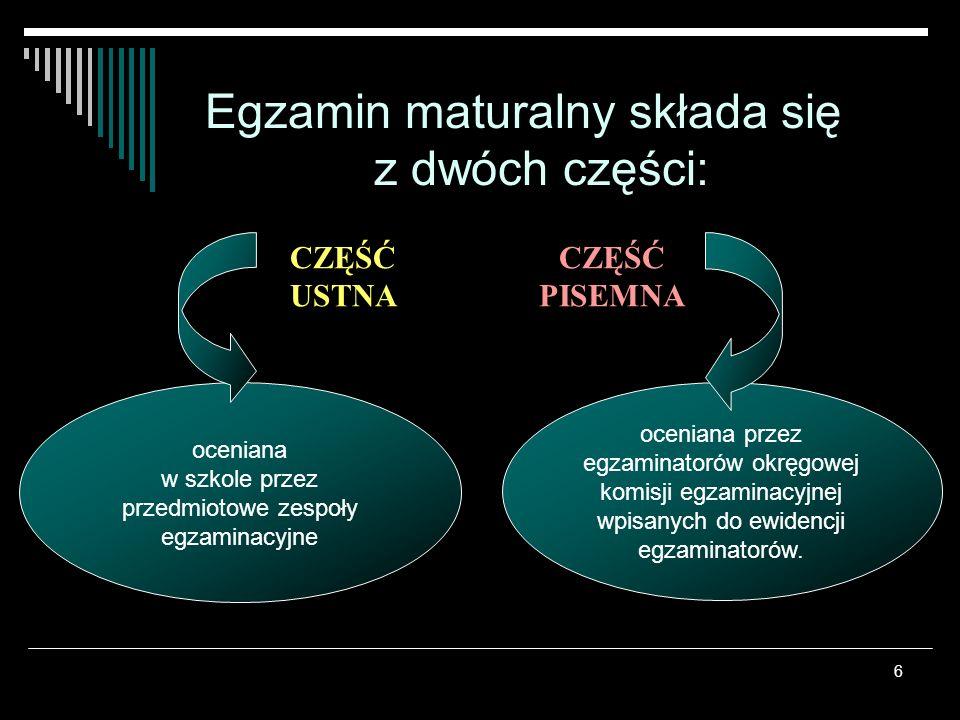 7 Język polski – zdawany na jednym, poziomie.