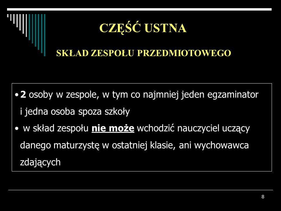 9 3 przedmioty na poziomie podstawowym J.polski Matematyka Język obcy do 6 przedmiotów na poziomie Rozszerzonym (w tym jeden obowiązkowo!!!) CZĘŚĆ PISEMNA Przedmioty obowiązkowePrzedmioty dodatkowe