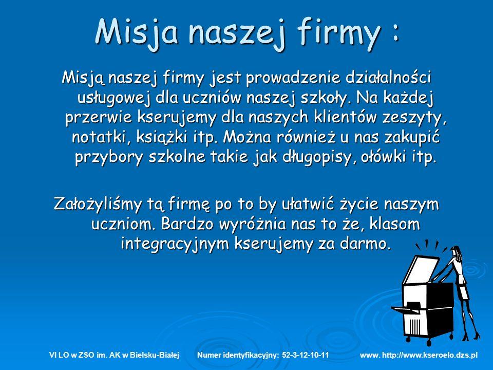 Opis produktu, pozostałych produktów i usług VI LO w ZSO im.