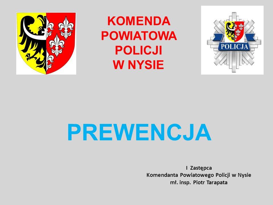 PREWENCJA KOMENDA POWIATOWA POLICJI W NYSIE I Zastępca Komendanta Powiatowego Policji w Nysie mł. insp. Piotr Tarapata