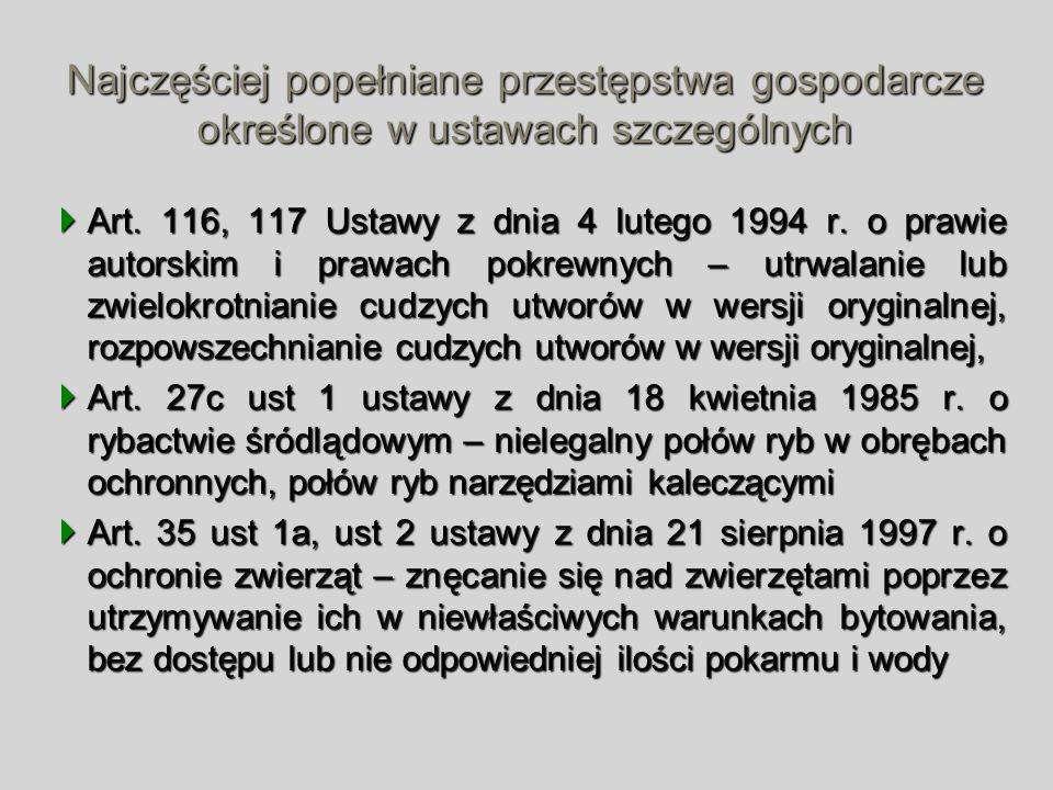 Art. 116, 117 Ustawy z dnia 4 lutego 1994 r. o prawie autorskim i prawach pokrewnych – utrwalanie lub zwielokrotnianie cudzych utworów w wersji orygin
