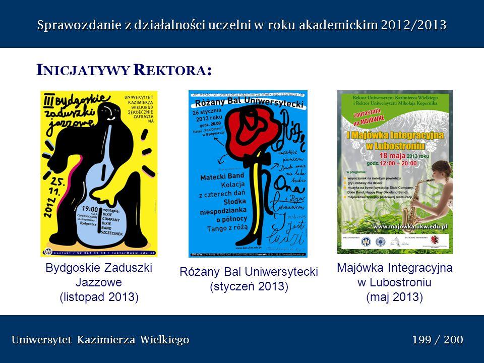 Uniwersytet Kazimierza Wielkiego 199 / 200 Uniwersytet Kazimierza Wielkiego 199 / 200 I NICJATYWY R EKTORA : Bydgoskie Zaduszki Jazzowe (listopad 2013